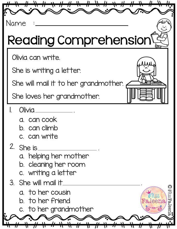 May Reading Comprehension Comprehension Worksheets Kindergarten