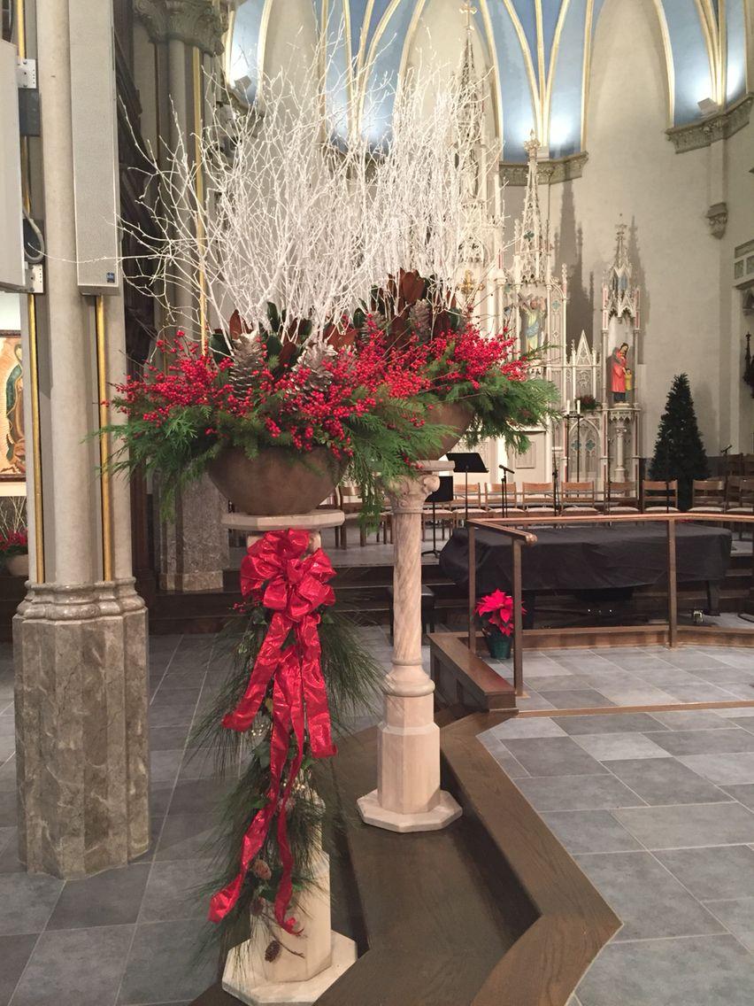 Christmas Church Decor Church christmas decorations