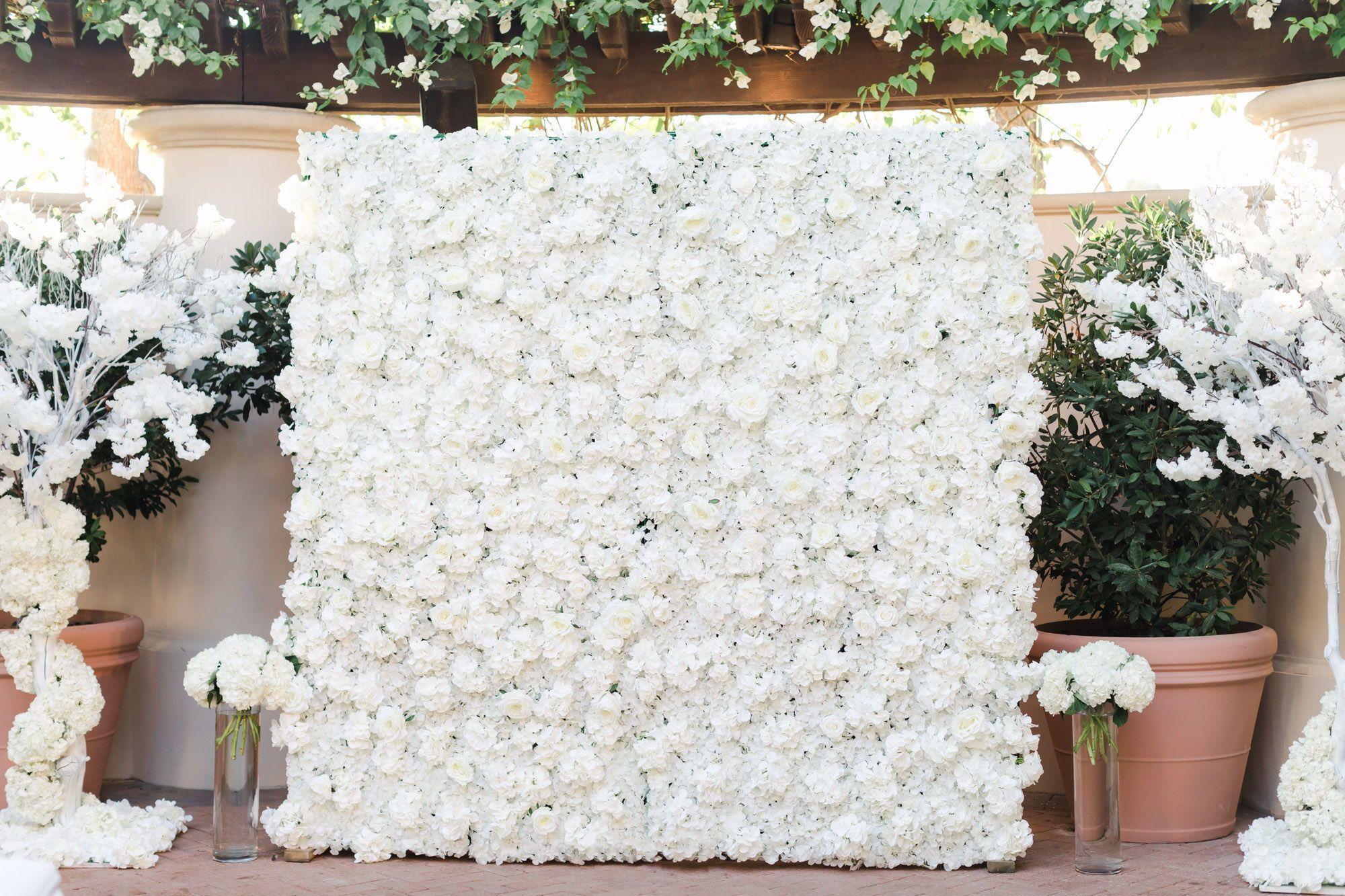 The Resort At Pelican Hill Wedding Venue Cavin Elizabeth Photography Flower Wall Wedding Wedding Wall Flower Wall Backdrop
