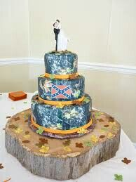 Wedding Cake Idea Of You Love Camouflage And The Confederate Flag