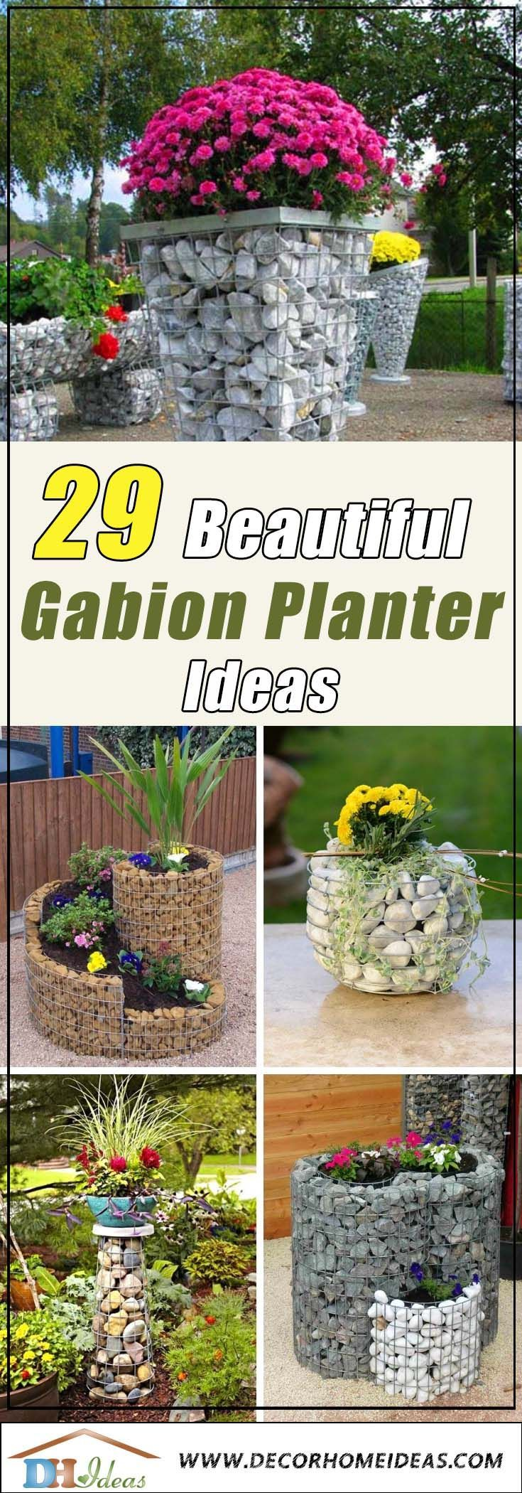 29 Beautiful Gabion Planter Ideas Planters Diy Planters 400 x 300