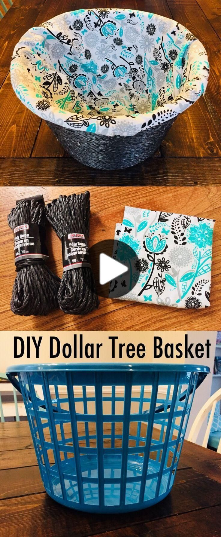 Diy dollar tree basket in 2020 dollar tree baskets