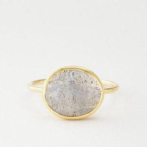 KATIE DIAMOND raine labradorite ring
