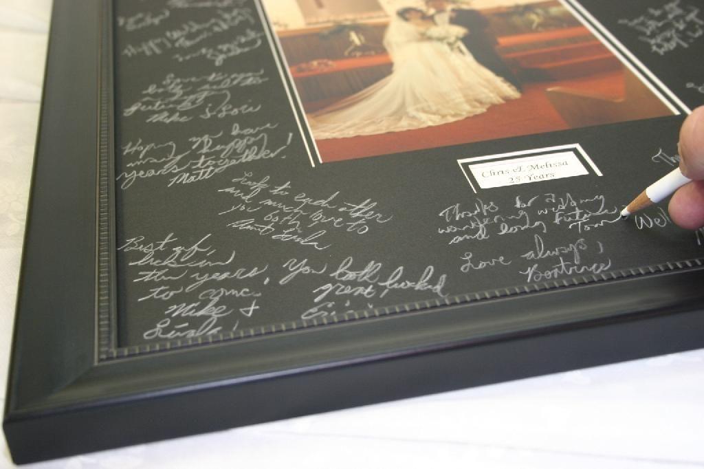 Black Signature Mat For Weddings Signature Book Framing Supplies Wedding