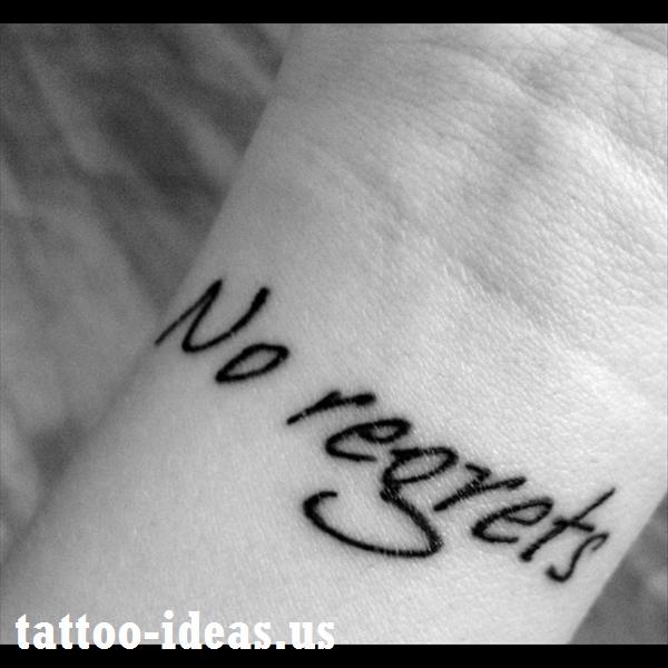 Wrist Tattoos Best Tattoo Design Ideas Tattoos Divorce Tattoo No Regrets Tattoo
