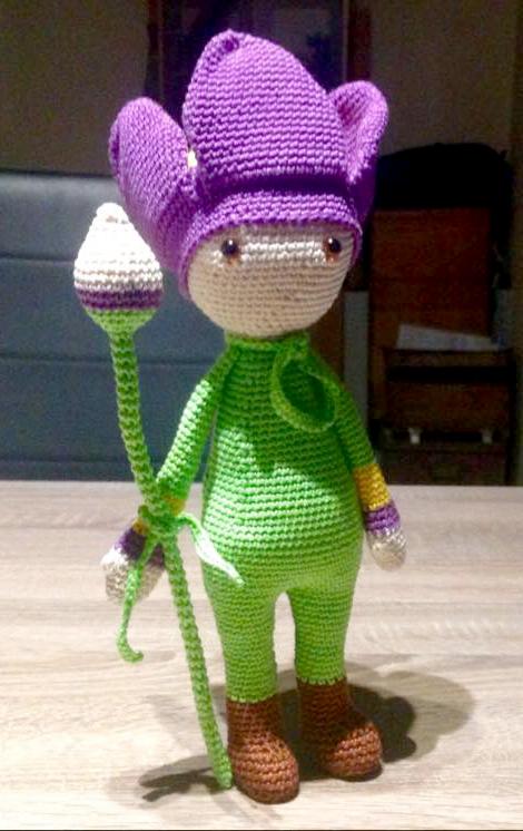 Tulip Theo doll made by Elly N - crochet pattern by Zabbez