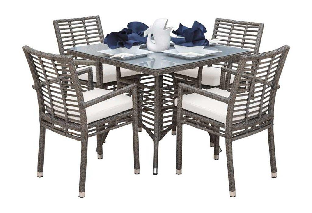 Panama Jack Graphite 5 Pc Dining Set With Cushions Pjo 1601 Gry