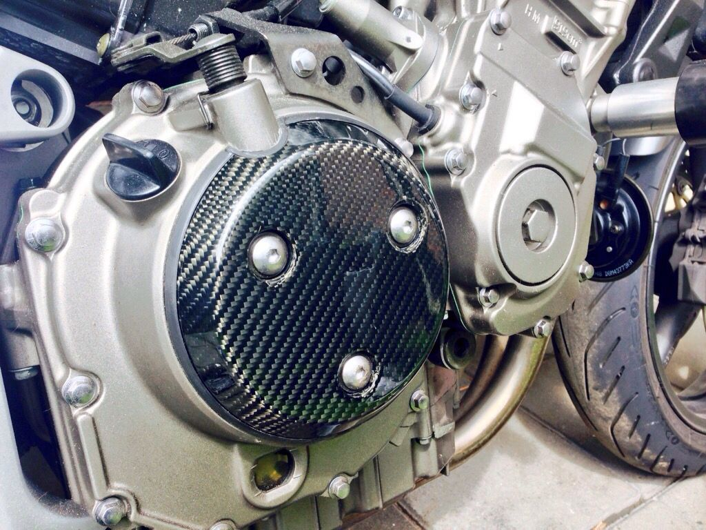 Carbon clutch cover. Lookin' good!
