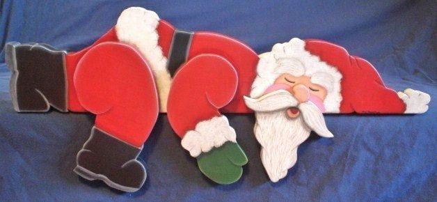 Sleeping Santa Claus Shelf Sitter Christmas by giftshop1 on Etsy