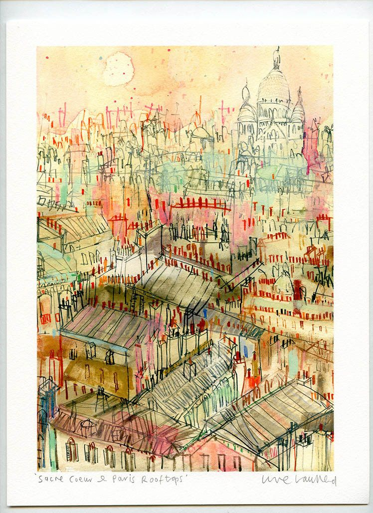 Toits De Paris Reproduction De Peinture A Laquarelle Sacre