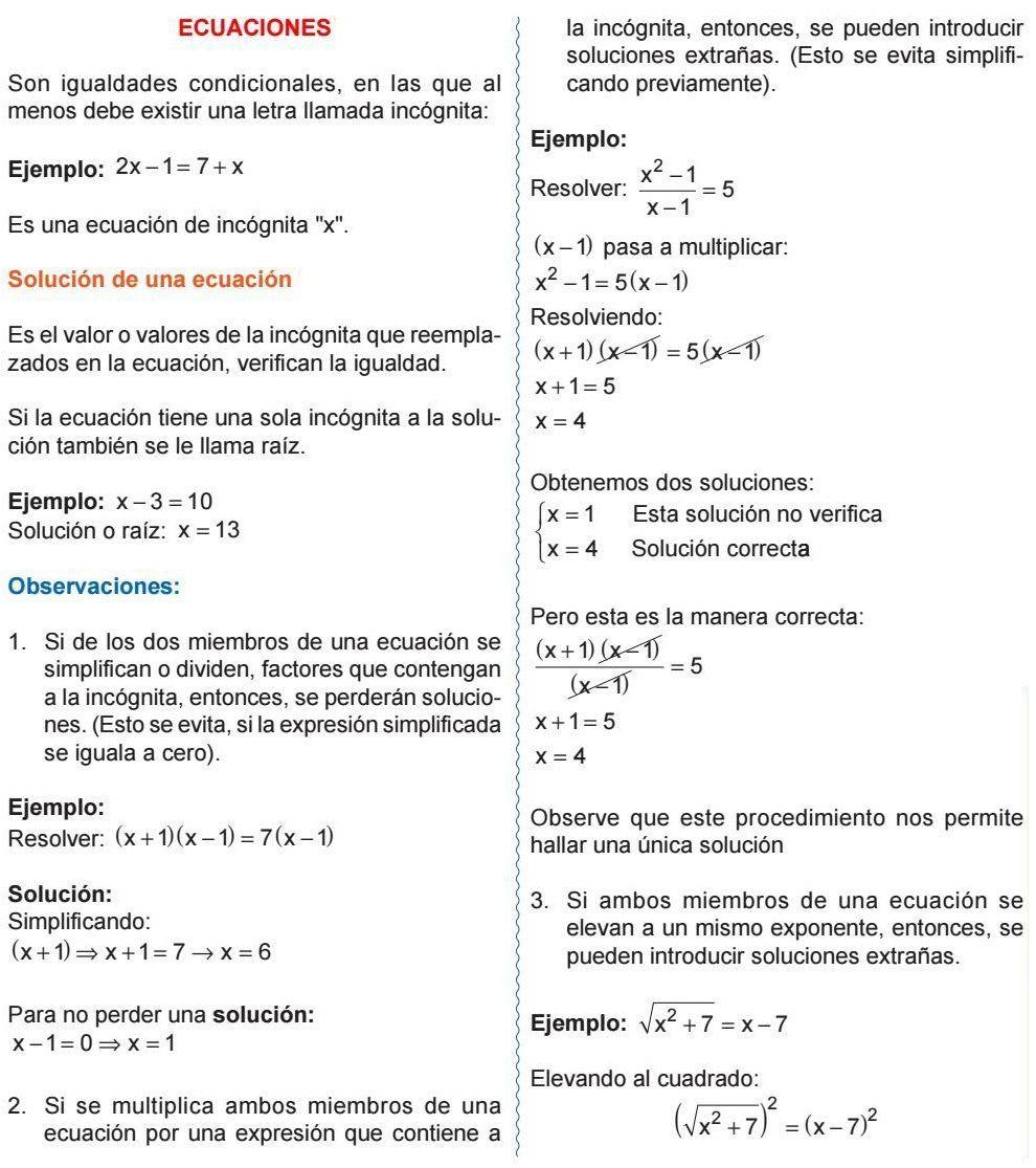 Ecuaciones Son Igualdades Condicionales En Las Que Al Menos Debe Existir Una Letra Llamada Incógnita Solución De Una Ecua Ecuaciones Condicional Matematicas