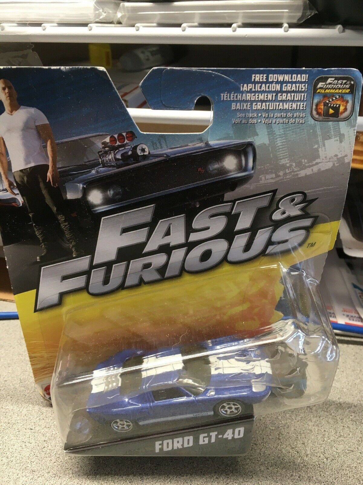(eBay link) Hot Wheels Fast and Furious Fast Five Ford GT-40 Blue 32/32 2016 FCN88 New $3.1