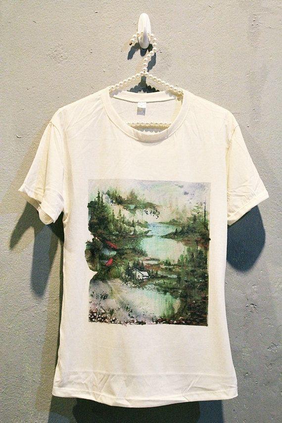 c7a2e92f6 Bon Iver T-Shirt Tee Shirt Punk Rock Women T Shirts Off White TShirt Size S