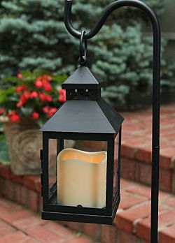 Outdoor Mini Square Battery Operated Candle Lantern Timer Candle Lanterns Battery Operated Candles Lanterns