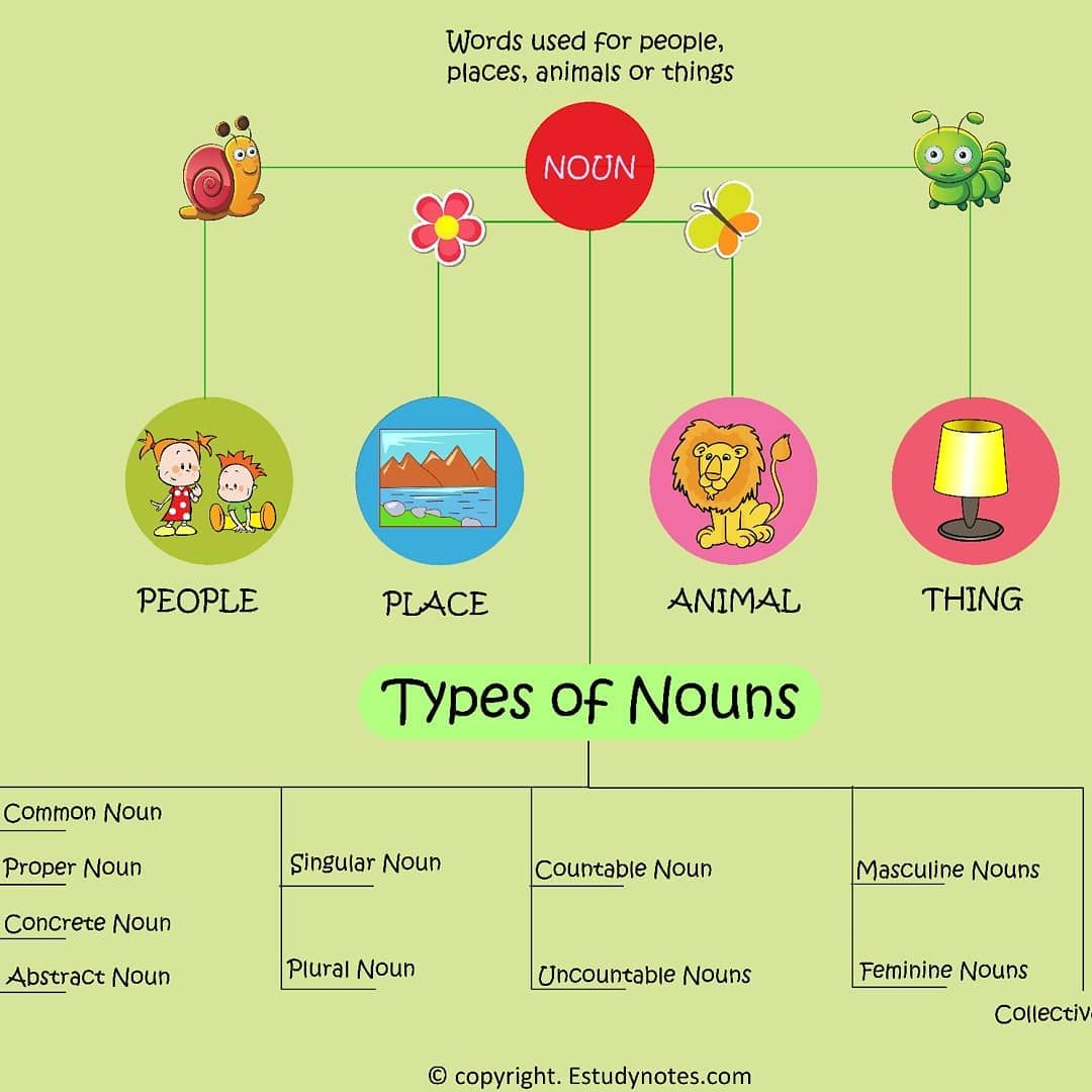 All About Noun At A Glance Englishisfun Englishlearning