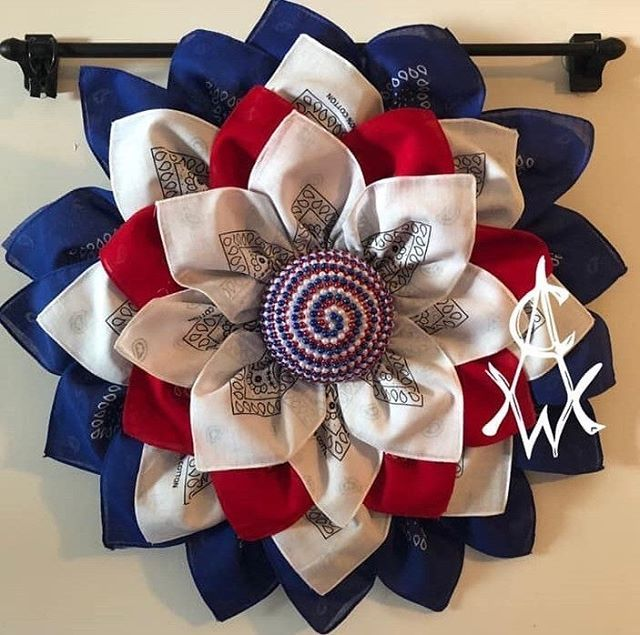 4th Of July Wreath Burlap