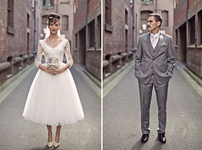 Classic And Chic Vintage Australian Wedding Marina Andy Green Wedding Shoes Wedding Dresses Vintage Vintage Wedding Dress 1950s 50s Style Wedding Dress
