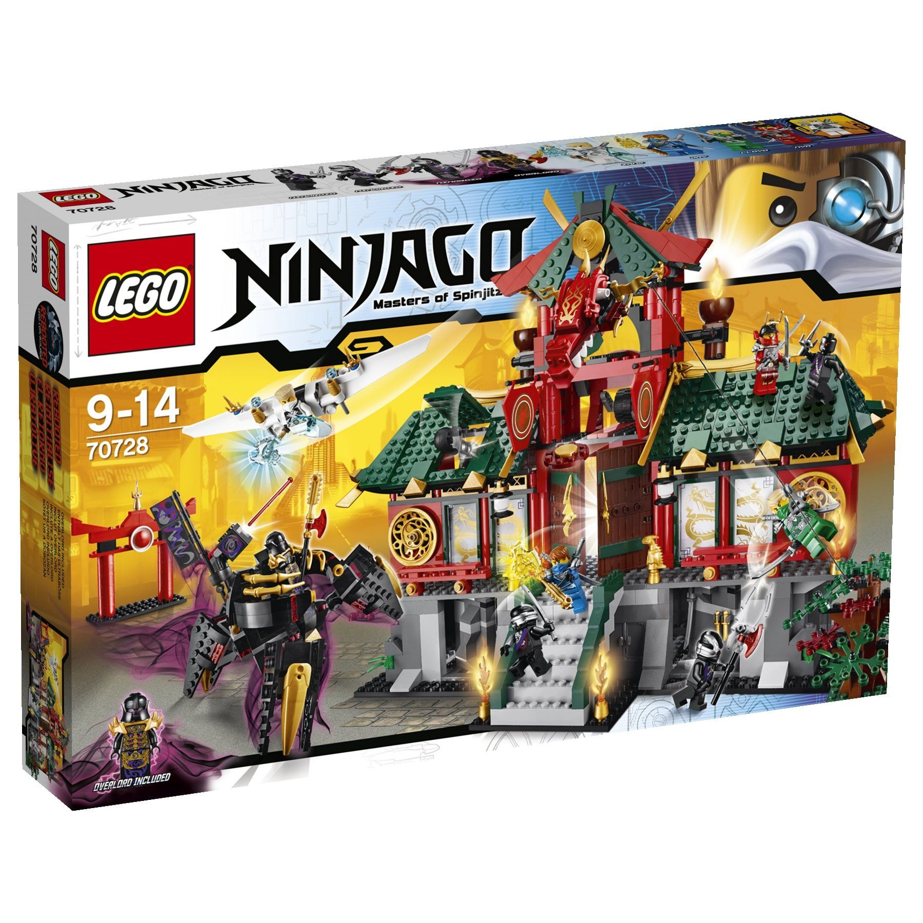 lego ninjago playthmes 70728 jeu de construction le temple de ninjago city