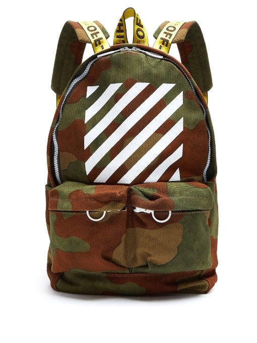 Off-White Logo-print cotton-canvas backpack
