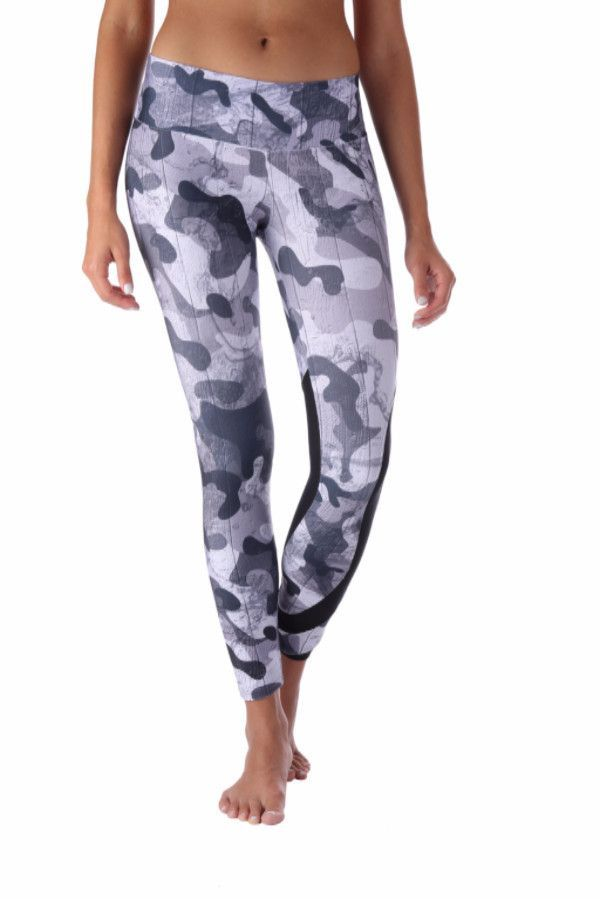 Black Camo Leggings with Mesh Insert Wide waist bandSoft, stretchy and amazingly comfortable for WOD workouts, Running, Yoga or SpinFour Way Stretch 79% Polyester, 21% ElastanePiling Resistant, eliminates snagsQuick Dry and Breathable even during the sweatiest workout sessions.Body Sliming Design Size ChartSmall/Medium0-6Medium/Large6-10Large/X-Large10-14