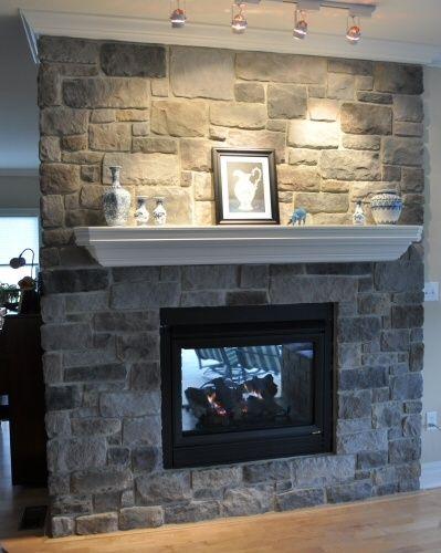 indoor-stone-fireplace & indoor-stone-fireplace   Basement   Pinterest   Stone fireplaces ...