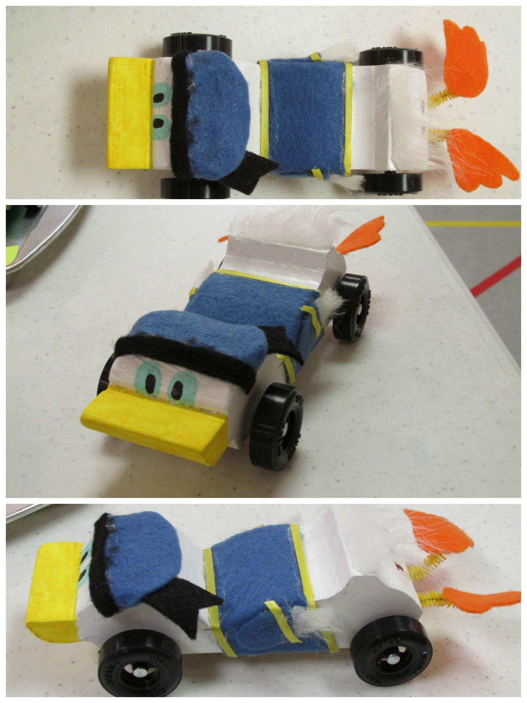 Donald Duck Awana Grand Prix Car Designed By Lauren Rhodes