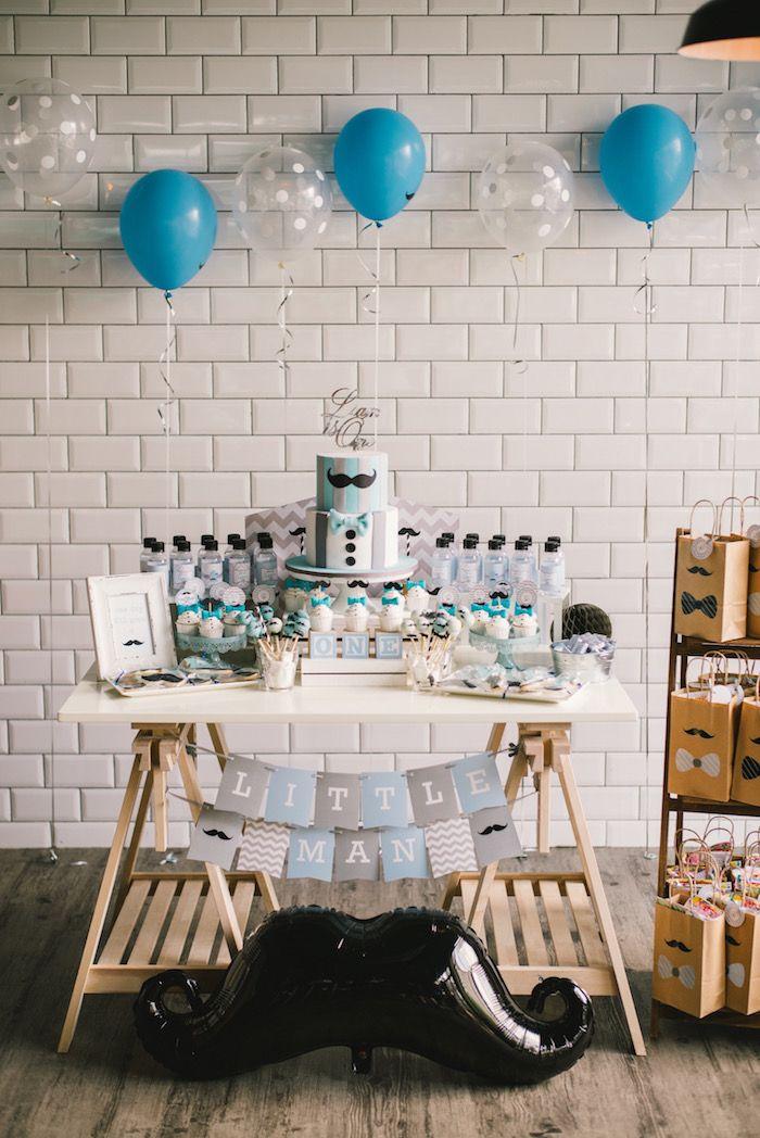 Modern Little Man Birthday Party On Karas Ideas