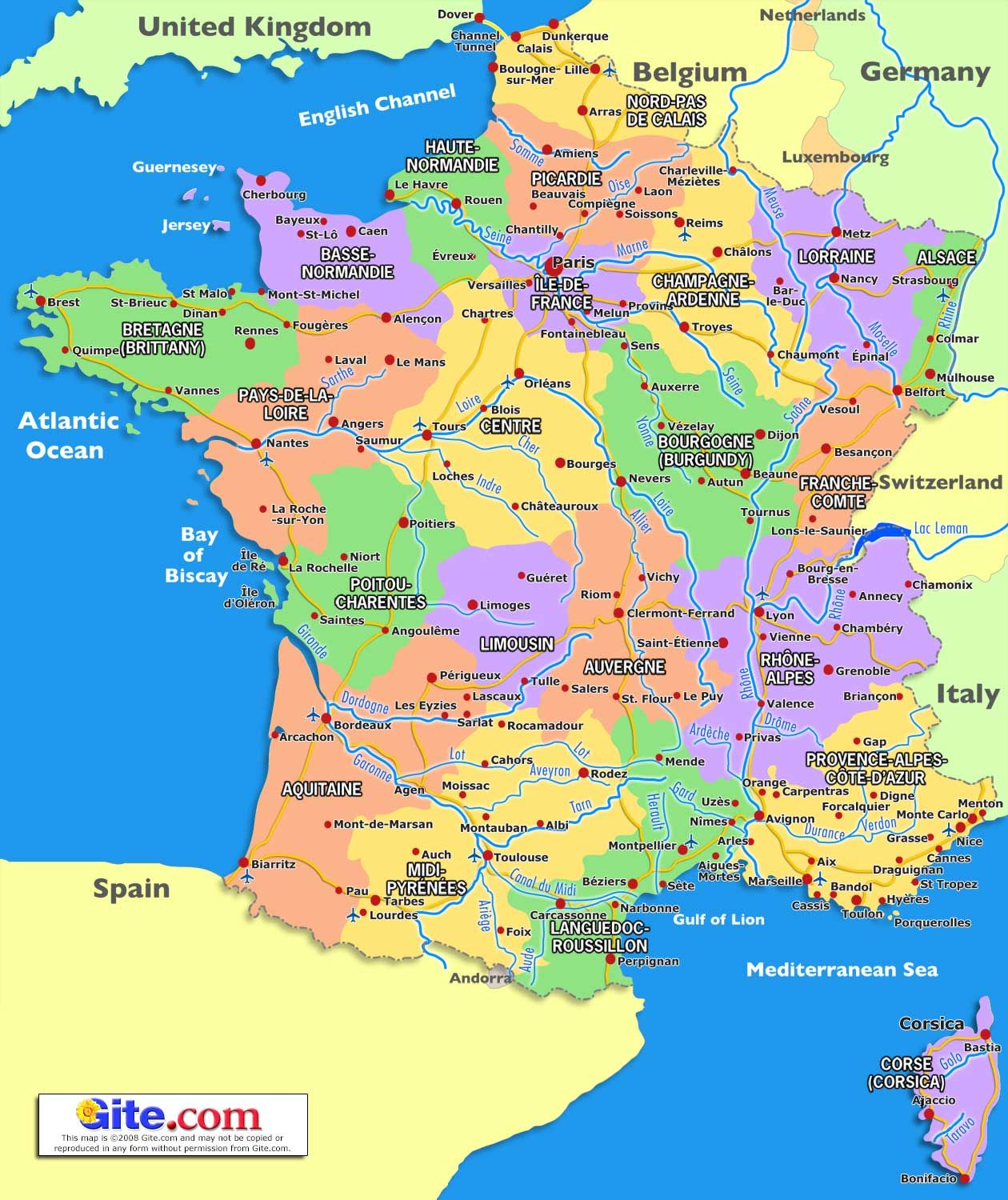 The Map Of France With The City.Map Of South France 2020 Travel In 2019 France Map France