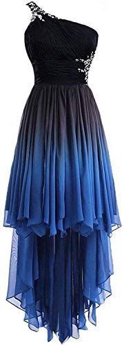 Amazing offer on HEAR Women's Ombre Halter Crystals Prom Gown Short Gradient Backless Chiffon Cocktail Dresses Hear215 online #backlesscocktaildress