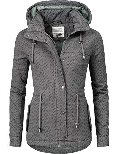 premium selection 6785b 118d4 Fresh Made Damen Winterjacke Baumwolljacke 44446A Grau ...