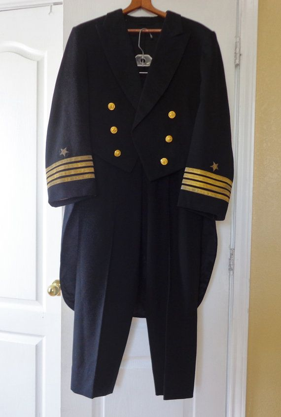Vintage 1950s Authentic U S Navy Captains Dinnerformaldress