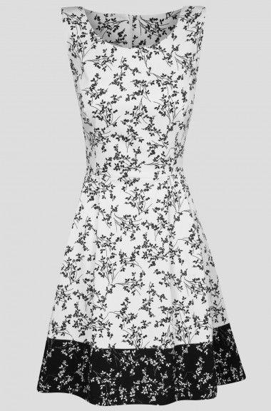 58e25142af163 Ärmelloses Kleid mit Blumen-Muster | ORSAY | Orsay in 2019 | Kleider ...