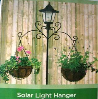 Solar Lamp Post With Hangers Light Hanger