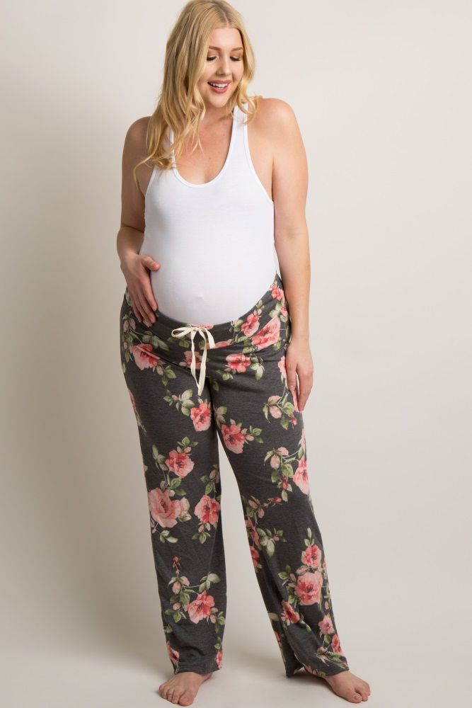 1524e76c5fb7e These floral maternity pajama pants are the perfect addition to your  sleepwear collection this season. Featuring a drawstring waistband for  customized ...