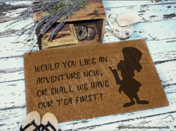 Would you like an adventure Welcome Mat | Alice Welcome Mat | Mad Hatter Mat | Housewarming Gift | H