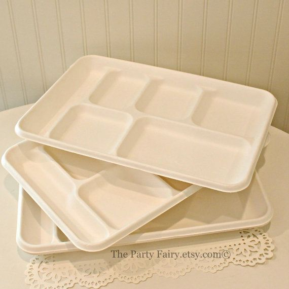 Food Trays Cafeteria Disposable Food Trays Party Food Plates Wedding Food Trays & Food Trays 10 Disposable Food Trays Disposable Plates Cafeteria ...