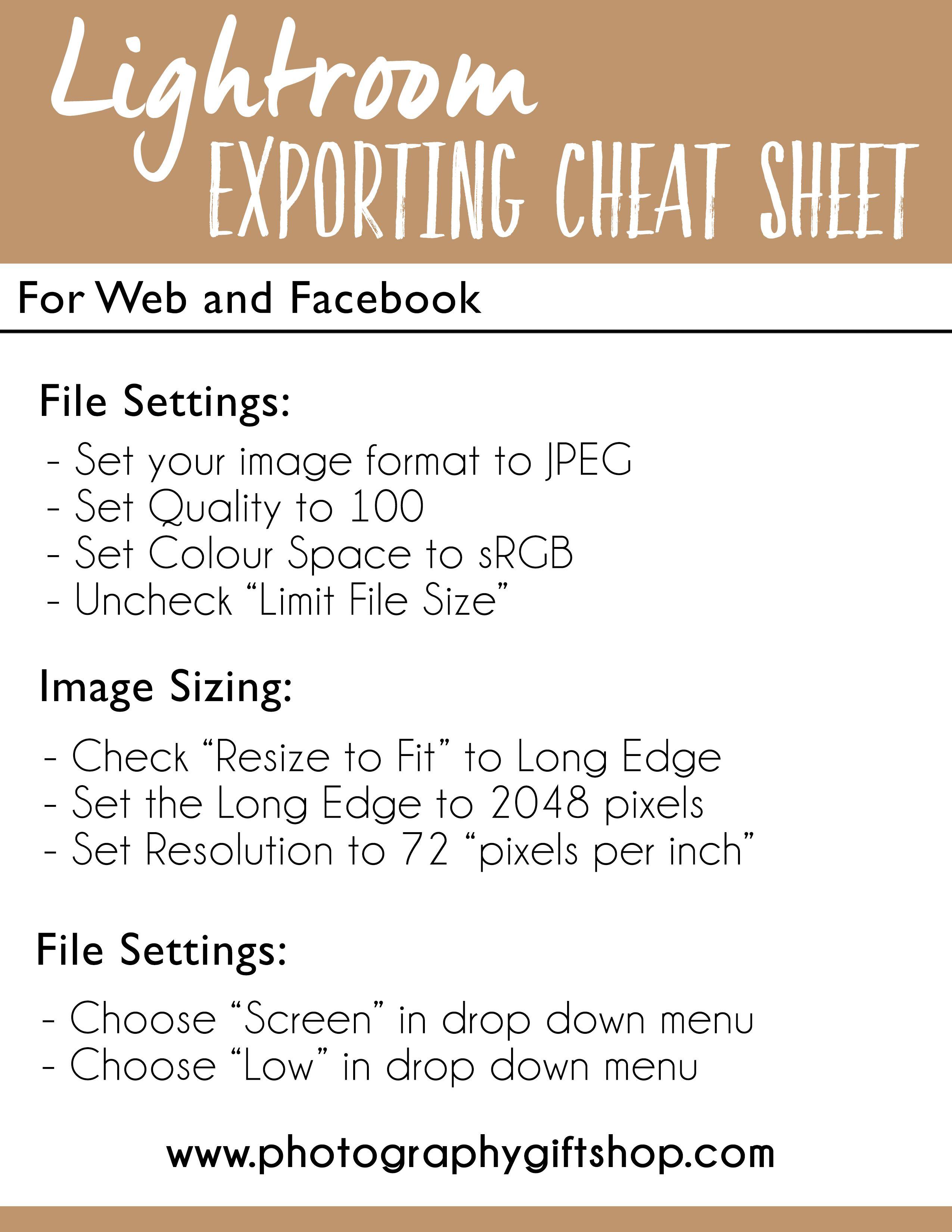 Lightroom export resolution for web