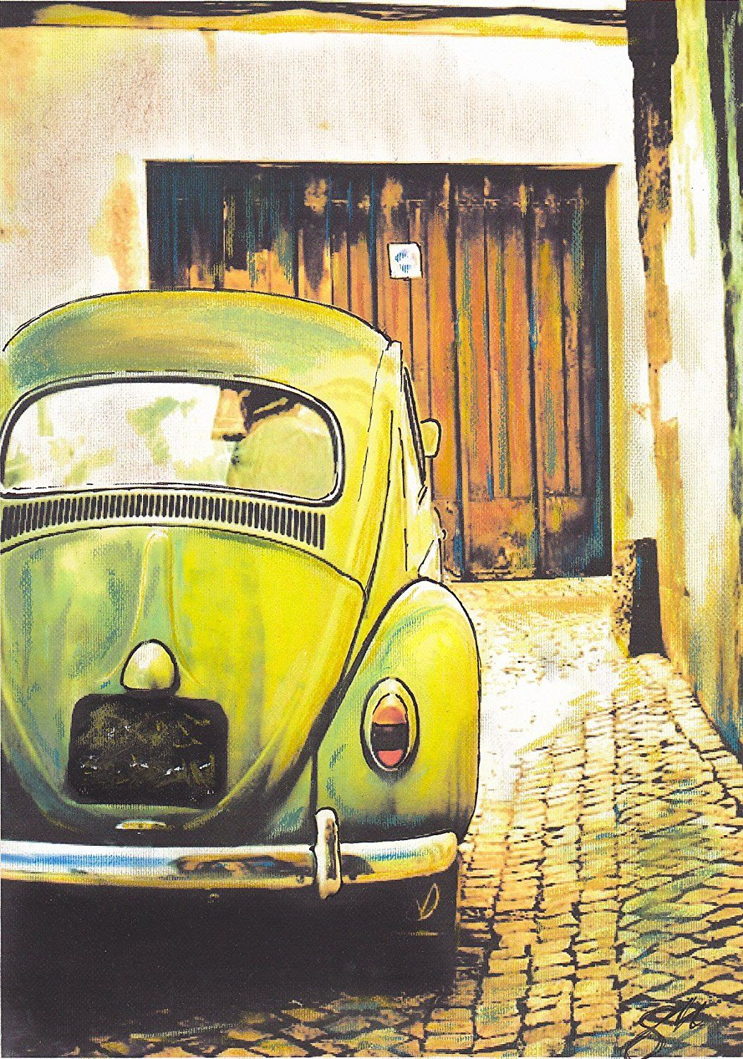Limited Edition SIGNED canvas print. VW Vintage/Classic Volkswagen ...