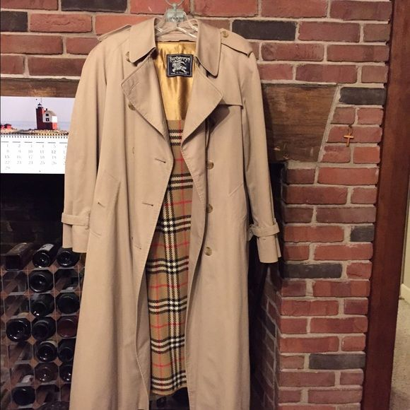 Vintage Burberry Trench Coat, Trench Coat Vintage Burberry