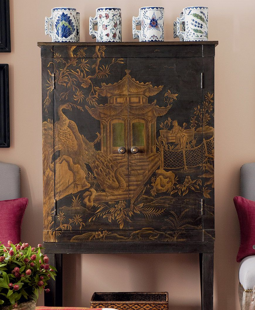 History Of The Interior Design: The History Of Chinoiserie #Chinese #Antique Cabinet