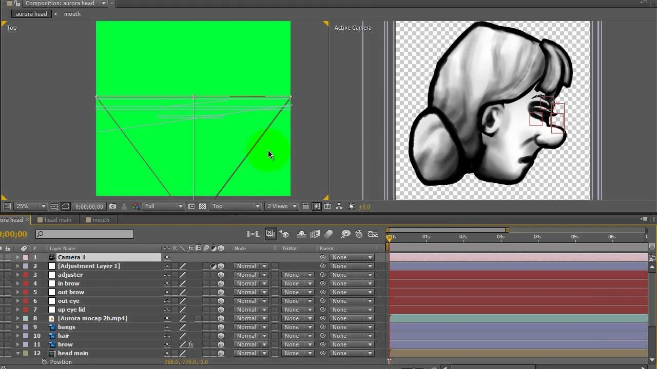 Home Mocap for Animation Head Rotate