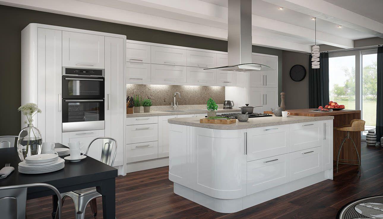 Leighton Gloss White White gloss kitchen, New kitchen
