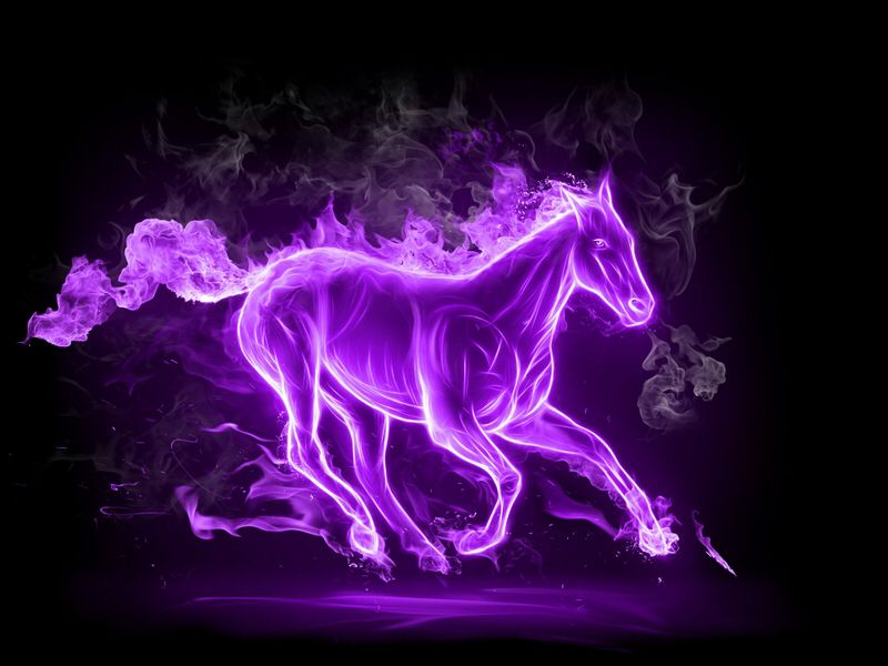 Azo Invented A Elemental Color Changing Space Horse Named Aphrodite That Has The Ability For Space Travel The Horse Has To Horse Wallpaper Fire Horse Flame Art