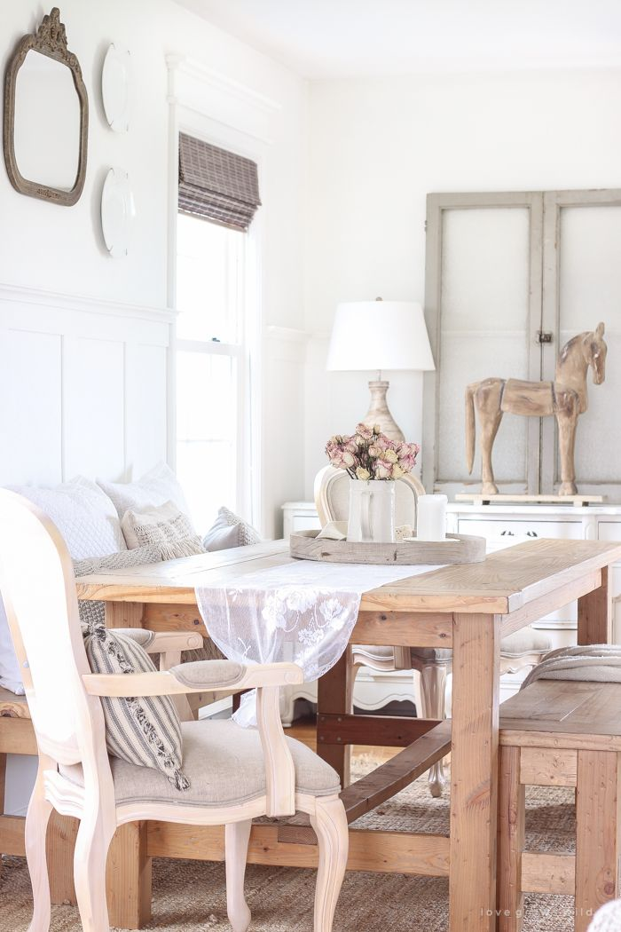 French Country in the Dining Room Estilo vintage, Decoraciones del - estilo vintage decoracion