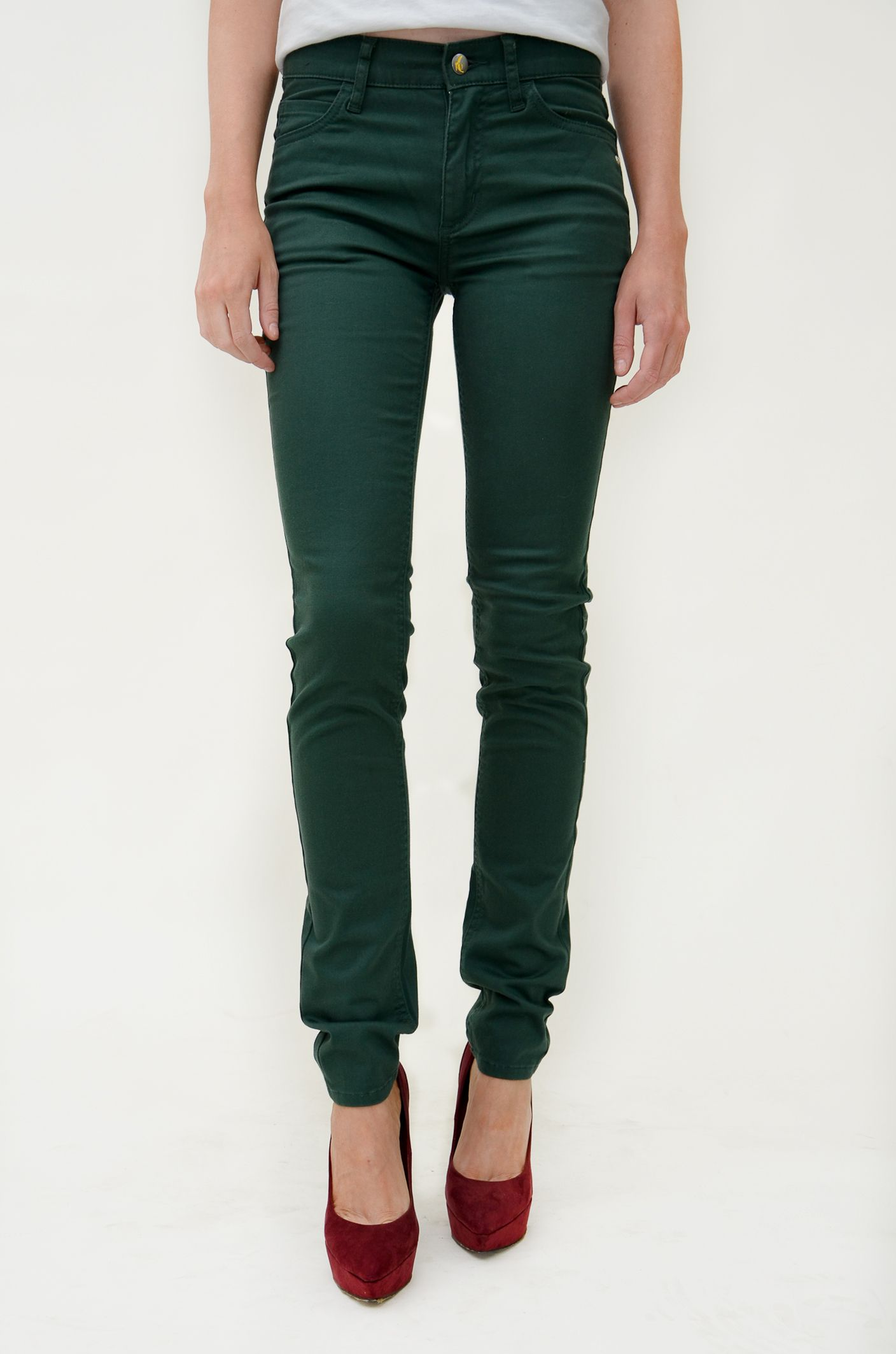 Green skinny jeans made of organic cotton by Monkee Genes. 79€ at ...