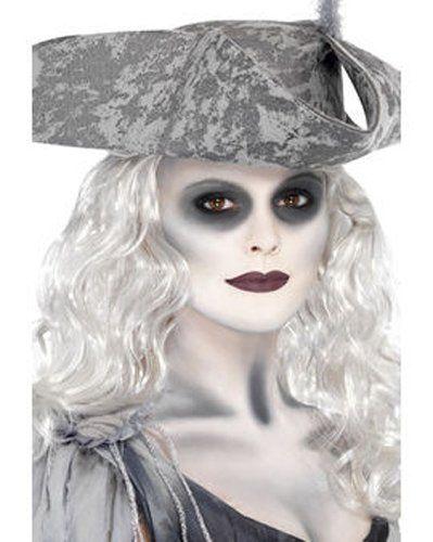 Halloween Ghost Ship Complete Makeup Set - Set includes: 1x White Face Paint, 1x Grey Eyeshadow, 1x White Hairspray, 1x Dark Lipstick, 1x Makeup Sponge, 1x Black Eyeliner: Amazon.co.uk: Beauty