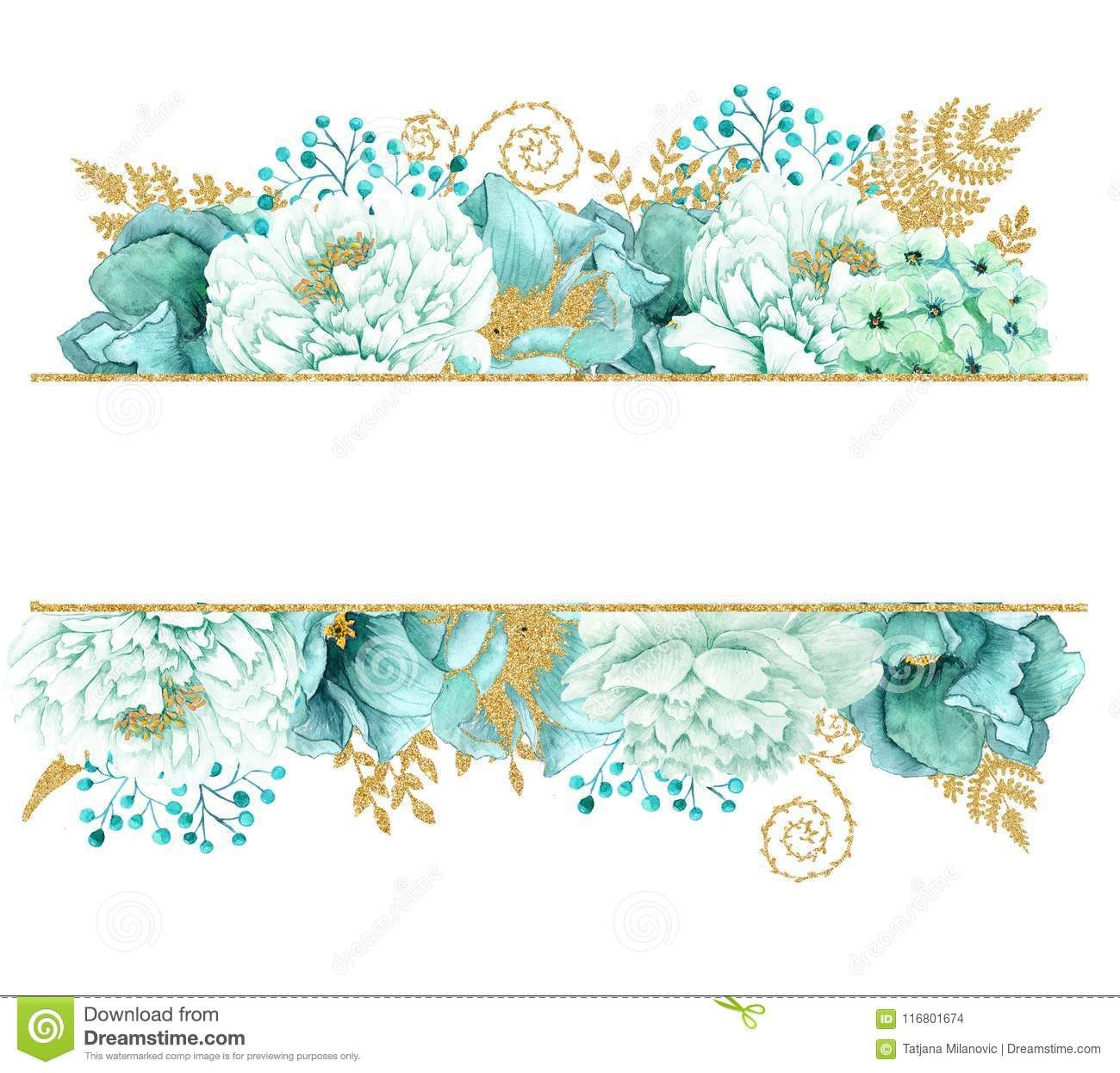 Pin By Solehah Idris On Flower Frame Flower Frame Mint Gold