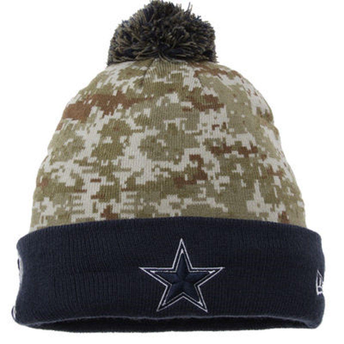 1394135cf03  25.99 Men s Dallas Cowboys NFL New Era STS Sport knit Pom Hat Digi Size  One Size