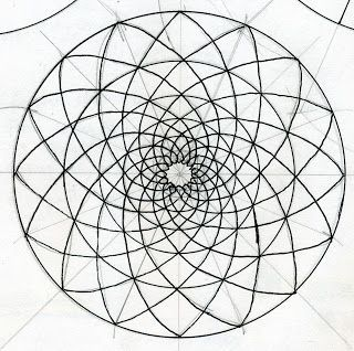 Circle and Phyllotaxis Matrices Sacred Geometry
