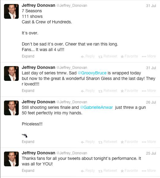 Jeffrey Donovan via Twitter  |  July 2013